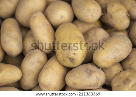 Fresh potatoes.