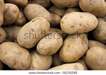 Fresh Potatoes Background