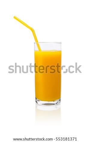 Fresh pressed orange juice in a glass
