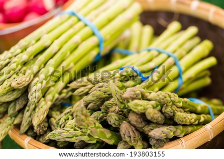 Fresh produce from the local farms at the farmers market. - stock photo