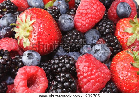 Fresh produce of tasty fruits - stock photo