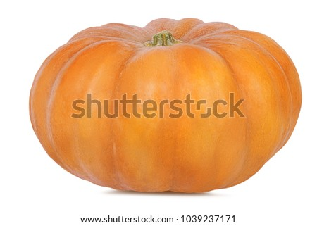 Fresh pumpkin isolated on white background with clipping path