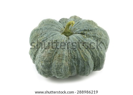 fresh pumpkin on white background - stock photo