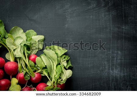 Fresh radish food background - stock photo