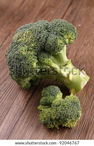 fresh raw broccoli - stock photo