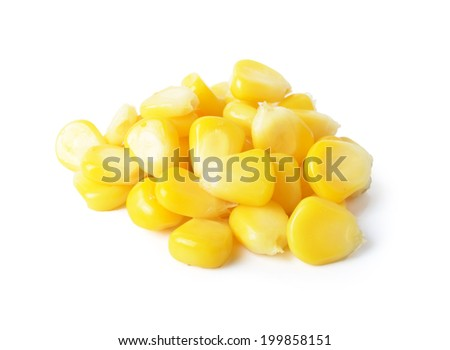 Fresh raw corn  - stock photo