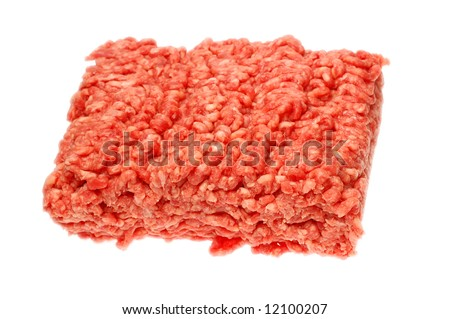 Fresh raw minced beef.
