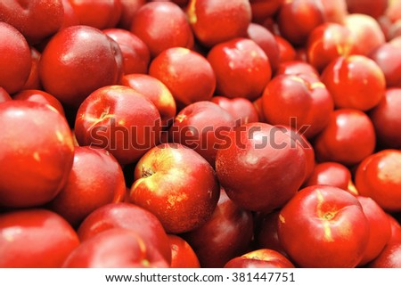 fresh raw peach tasty, from market to you table for enjoy - stock photo