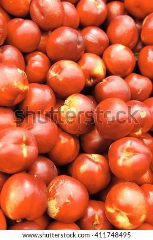 fresh raw peach tasty heao taked now from market to you table for enjoy - stock photo