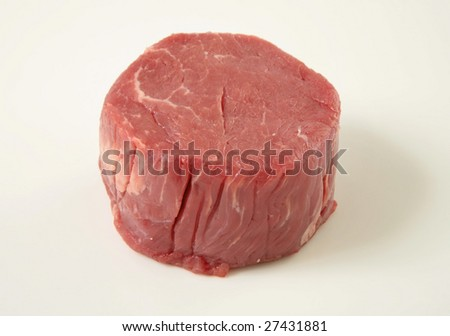 fresh raw steak