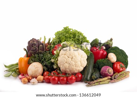 fresh raw vegetables - stock photo