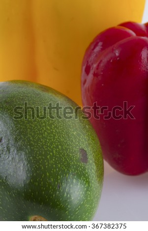 fresh raw vegetables close up - stock photo