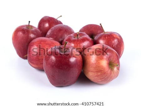 Fresh red apple isolated on white