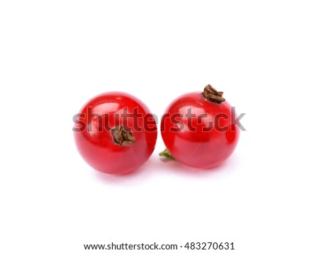 Fresh red currant isolated on white backgroun