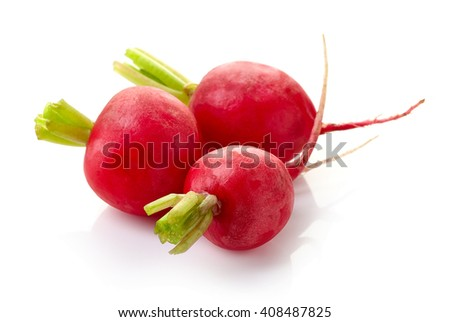 Fresh red radish isolated on white background