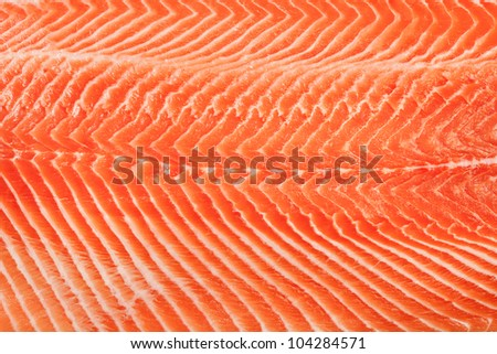 Fresh red salmon texture. Closeup - stock photo