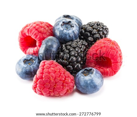 Fresh ripe berry on a white background - stock photo