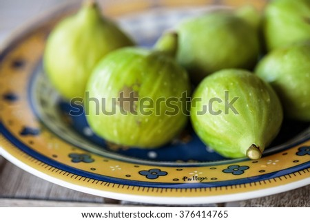Fresh Ripe Figs collected from Fig Tree in Summer on Italian Farm