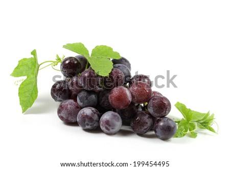 Fresh ripe grapes isolated on white background  - stock photo