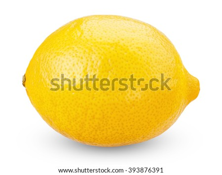 Fresh ripe lemons isolated on white background with clipping path