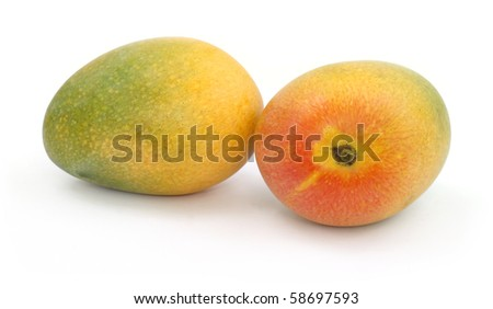 Fresh ripe mangoes - stock photo