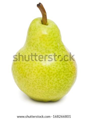 Fresh ripe pear isolated on white background - stock photo