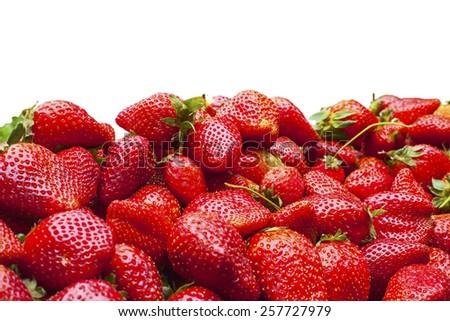 Fresh ripe perfect strawberry - stock photo