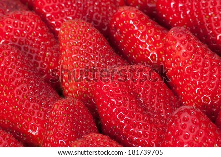Fresh Ripe Strawberries In A Box