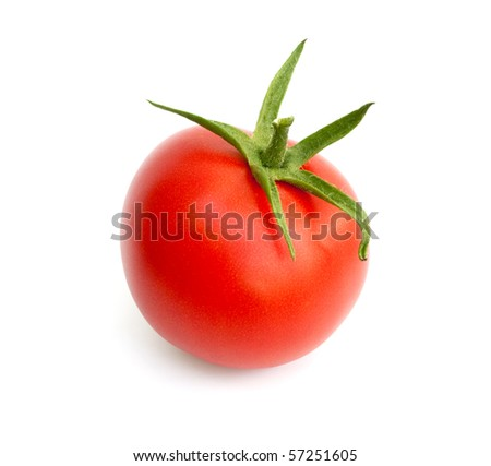 Fresh ripe tomato - stock photo