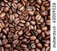 Fresh roasted coffee beans' background - stock photo