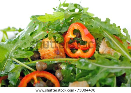 Fresh rucola salad