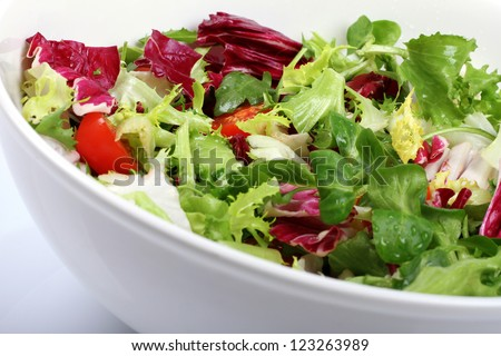 fresh salad in a bowl - stock photo