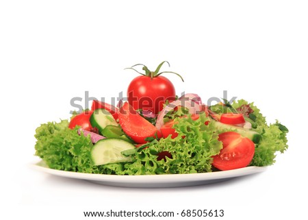 Fresh salad on the plate