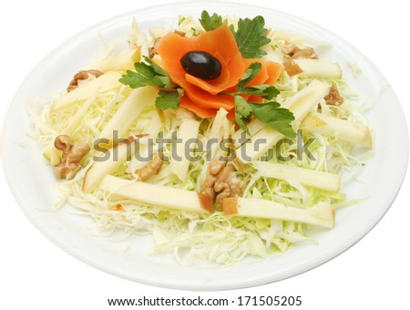 Fresh salad with cabbage
