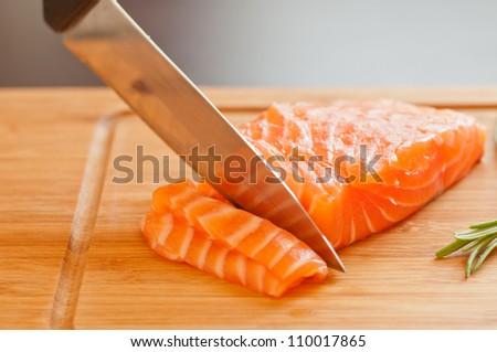 Fresh Salmon - stock photo