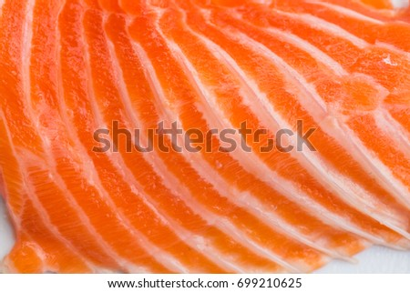 Fresh salmon fillet, closeup background