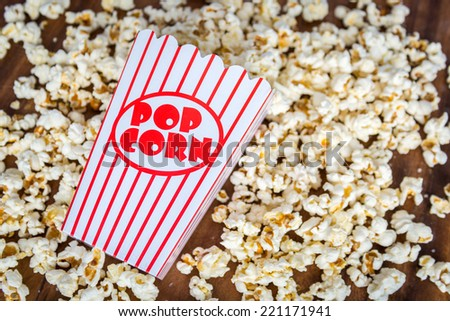 Fresh salted popcorn food snack - stock photo