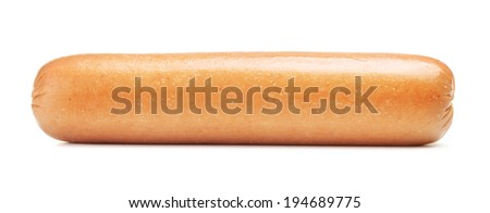 fresh sausage, isolated on a white background - stock photo