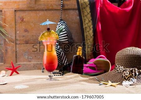 Fresh Sex on the beach cocktail - stock photo