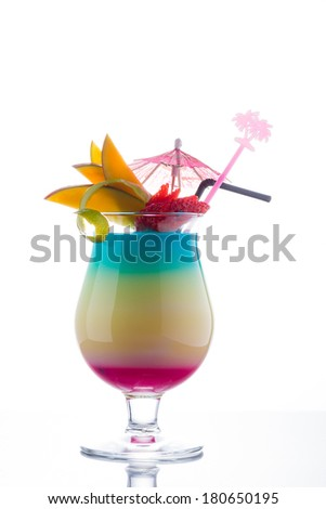 Fresh Sex on the beach cocktail - stock photo