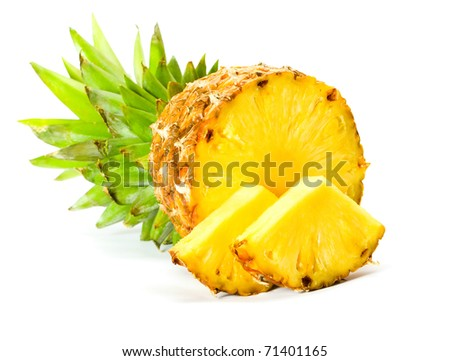 Fresh slice pineapple - stock photo