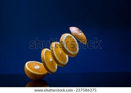 Fresh sliced orange - stock photo