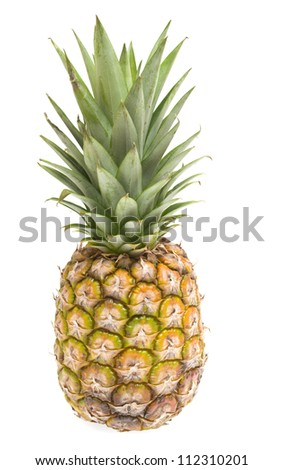 Fresh sliced pineapple isolated on white background - stock photo