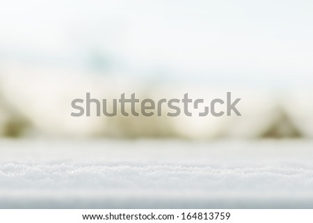 fresh snow in early winter as background - stock photo
