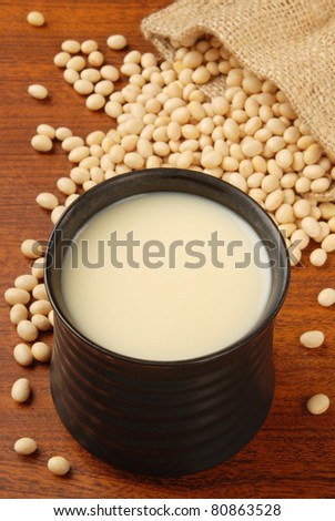 Fresh soy milk and raw soy bean
