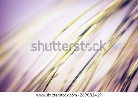Fresh spring grass. Shallow DOF. - stock photo