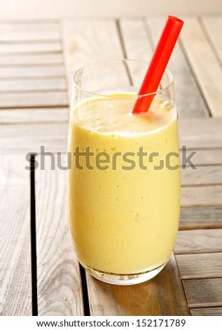 Fresh squeezed mango smoothie - stock photo