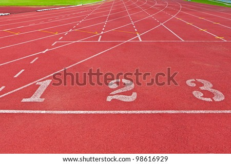 Fresh start concept with running track