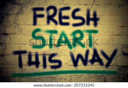 Fresh Start This Way Concept - stock photo