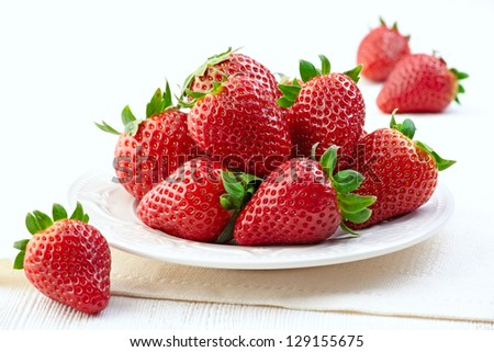 fresh strawberries - stock photo